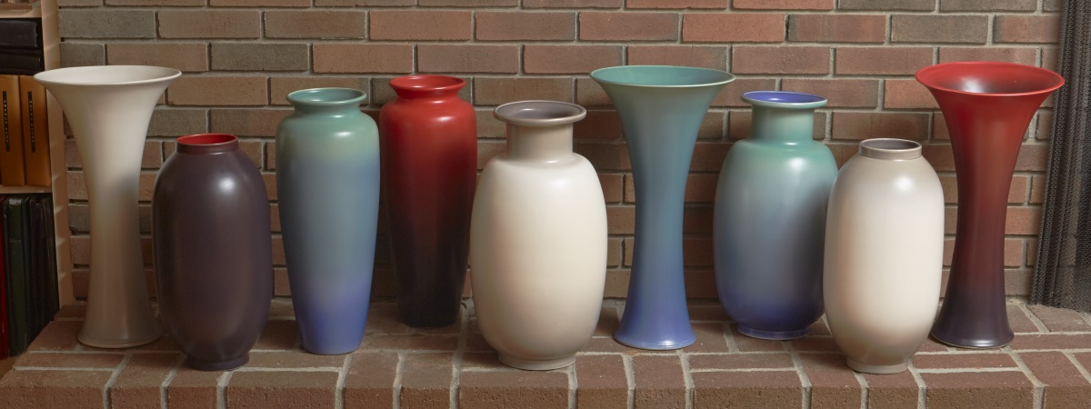 Rookwood Stoneware Vase Collection For Mottahedeh Cranbury Nj